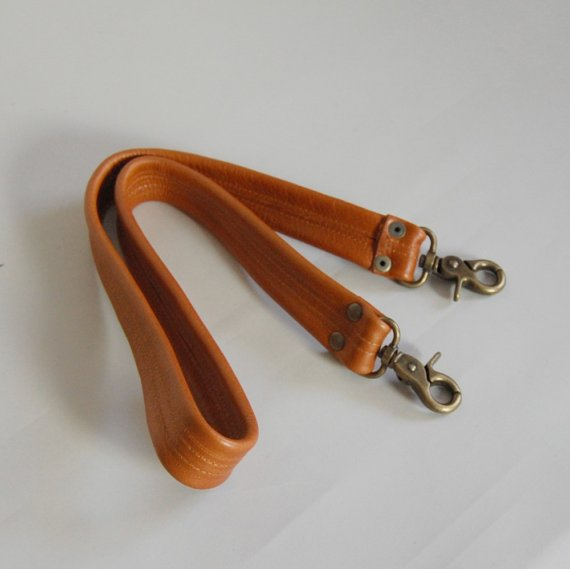 Leather clip on cross body strap, $3.00