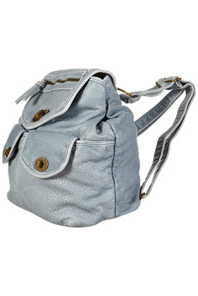 Blue Washed Oversized Rucksack, $75.00