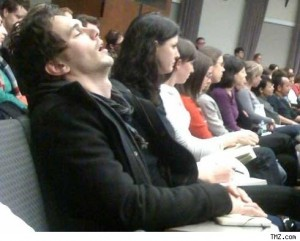 James Franco asleep in class, he's just like the rest of us!