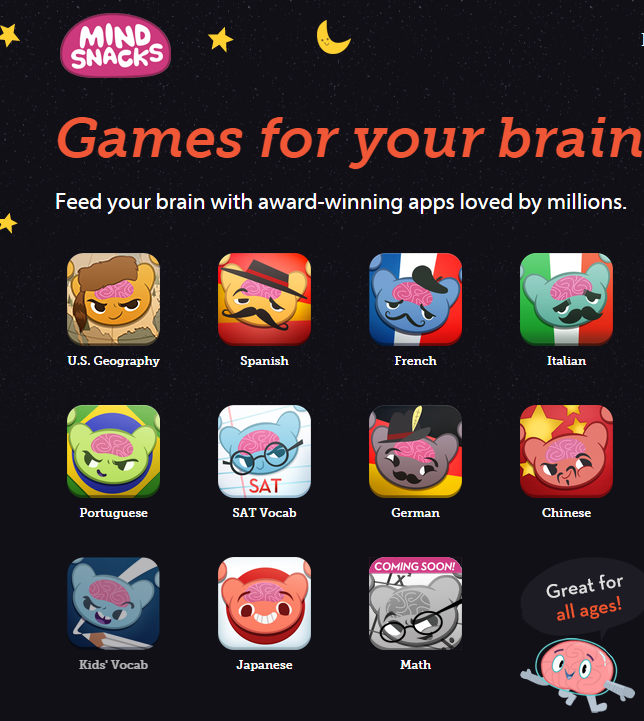 Mindsnacks is a free app that can be used to learn new languages.