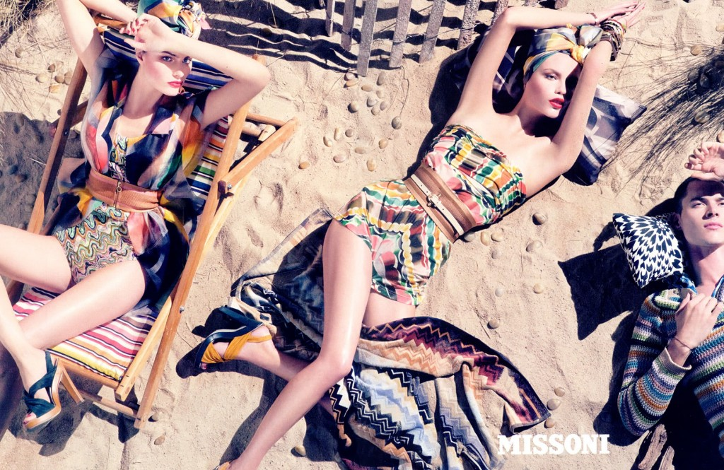 Fashion blends colors and textures in interesting ways