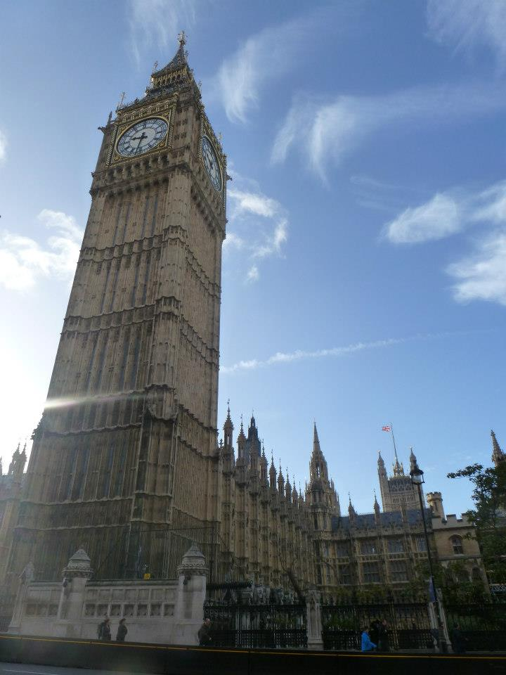 The famous Big Ben and Westminster Abbey: one of the many pictures Zarra took on her trip.