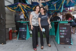 Sisters Carine and Christine at Semsom's grand opening. Photo courtesy of Semsom.