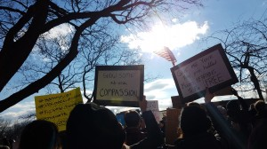 Rally against Islamophobia at Battery Park. Taken by Jainita Patel.
