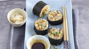 Image Credit: https://www.finedininglovers.com/recipes/appetizer/quinoa-sushi-rolls-salmon/
