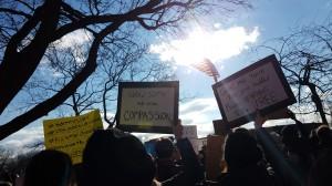 Rally against Islamophobia at Battery Park. Taken by Jainita Patel.