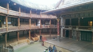 Inside the Globe Theatre. Taken by Jainita Patel.