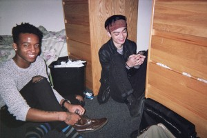 My friend Paris and I chilling in my dorm after a photoshoot.