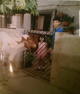 Me and my cousin circa 1999 in Vadodara.