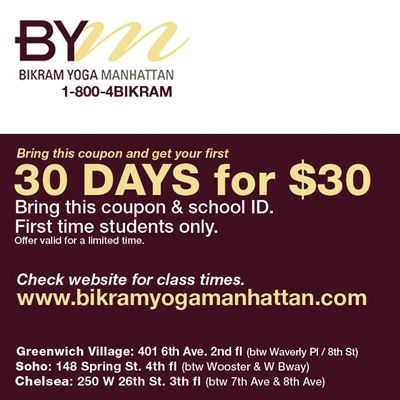 Yoga School Coupon